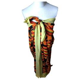 Hermès-pareo-Multiple colors