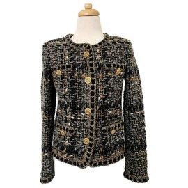 Chanel-Chanel Paris Rome Four 4 Pocket Jacket 36-Brown