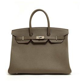 Hermès-Birkin 35 EPSOM GRIS ETAIN NEW-Silvery,Grey
