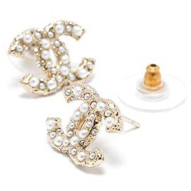 Chanel-SMALL CC MINI PEARLS AND RHINESTONES-Golden
