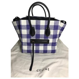 Céline-BAG CELINE PHANTOM LUGGAGE NEVER WORN-Black,White,Blue