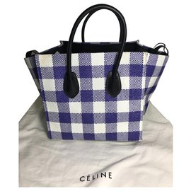 Céline-SAC CELINE PHANTOM LUGGAGE NEVER WORN-Noir,Blanc,Bleu