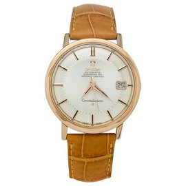 """Omega-Omega watch, """"Constellation"""", Rose gold, cuir.-Other"""