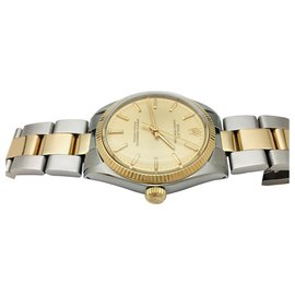 "Rolex-Rolex ""Oyster Perpetual"" watch in yellow gold and steel.-Other"