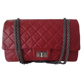 Chanel-Chanel bag 2.55 RED JUMBO-Red