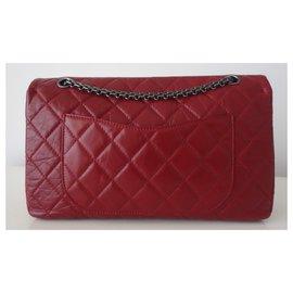 Chanel-SAC CHANEL 2.55 JUMBO ROUGE-Rouge