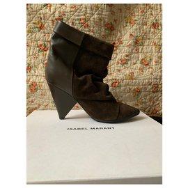 Isabel Marant-Ankle Boots-Khaki