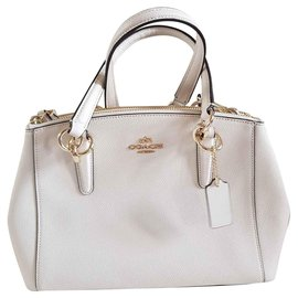 Coach-Coach handbag or shoulder strap-White,Eggshell