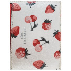 Coach-Coach Card Holder-Pink,White,Red