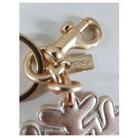 Coach-Coach flake keychain-Pink,Golden,Bronze