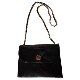 Chanel-Sacs à main-Noir,Doré