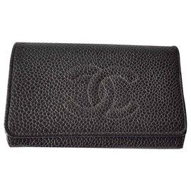 Chanel-Purses, wallets, cases-Black,Golden