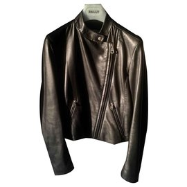 Bally-Biker jackets-Black