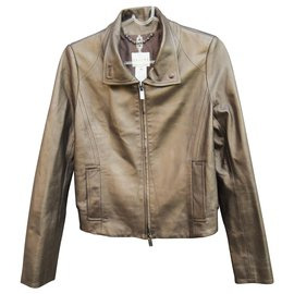 Céline-Céline Lambskin Jacket With Silk Lining New Condition-Bronze