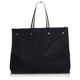 Gucci-Gucci Sac cabas en jacquard noir-Noir