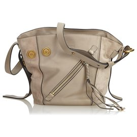 f68e50a7838 Chloé-Chloe Brown Leather Myer Satchel-Brown,Beige ...
