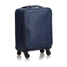 Chanel-Chanel Blue Caviar Coco Case Trolley-Blue
