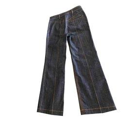 Louis Vuitton-Jeans taille haute-Bleu