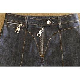Louis Vuitton-Jeans high waisteded-Blue