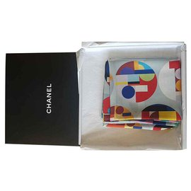 Chanel-Chanel silk scarf-Other