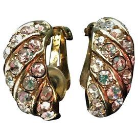 Christian Dior-Pair of ear clips, Brand Christian Dior 1960/70-Golden