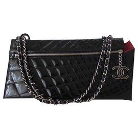 Chanel-POCHETTE CHANEL CUIR GM-Noir