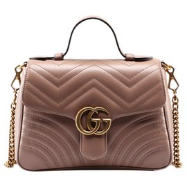 Gucci-sac gucci marmont neuf-Rose