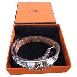 Hermès-Rivale-Silvery,Beige
