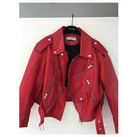 Balenciaga-Balenciaga red biker size 38-Red