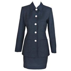 Yves Saint Laurent-Skirt suit-Black,White