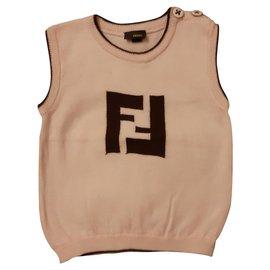 Fendi-T-shirts-Beige