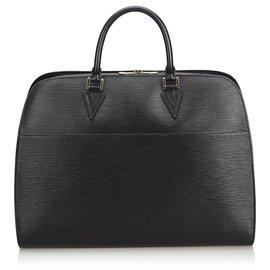 Louis Vuitton-Louis Vuitton Black Epi Sorbonne-Black