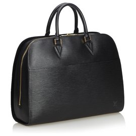 Louis Vuitton-Louis Vuitton Black Epi Sorbonne-Schwarz