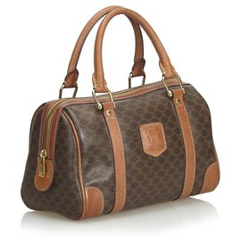 Céline-Celine Brown Macadam Boston Tasche-Braun
