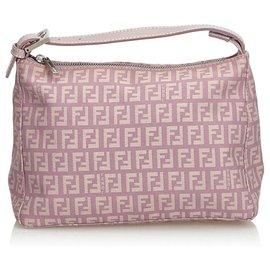 Fendi-Fendi Purple Zucchino Jacquard Handbag-Purple