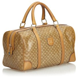 Céline-Celine Brown Macadam Boston Sac-Marron,Beige
