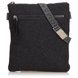 Fendi-Fendi Gray Fabric Belt Bag-Other,Grey
