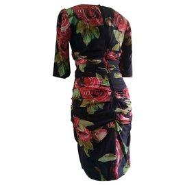 Dolce & Gabbana-Robes-Noir,Rouge