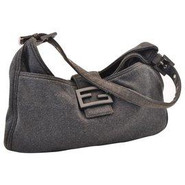 Fendi-Fendi Mamma Baguette-Grey