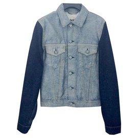 Acne-Veste en jean-Bleu