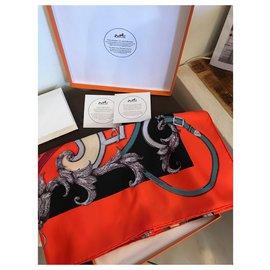 Hermès-Hermès Quadrat Seide die Anweisung von Roy Neuf-Andere