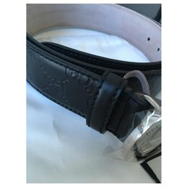 Gucci-Guccissima Man's Belt-Black