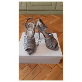 Christian Dior-Sandals-Grey