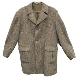 Autre Marque-manteau Dunn & Co en Harris Tweed-Marron