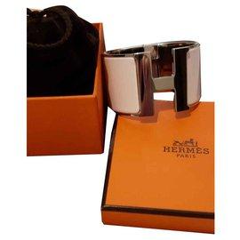 Hermès-Bracelet Hermès cliquez sur H-Blanc