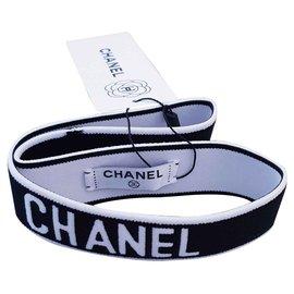 Chanel-Bande cheveux Chanel-Noir,Blanc