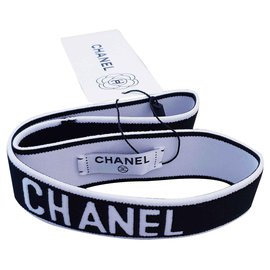 Chanel-Chanel hair band-Black,White