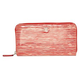 Chanel-CORAIL PATENT-Red,Cream