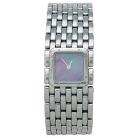 """Cartier-Cartier """"Panther ribbon"""" watch in steel and mother-of-pearl.-Other"""
