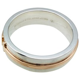 """Tiffany & Co-Tiffany & Co ring., """"Tiffany T Two"""", silver and rose gold.-Other"""